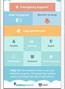 kiss myAsthma App helps kids monitor asthma