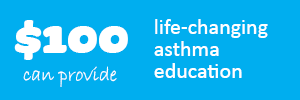 $100 could provide life-changing asthma education