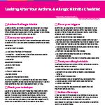Allergic Rhinitis Checklist image